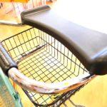 前腕支持台の下に便利なカゴを装備。買い物メモや小物を入れる場所としてGood!